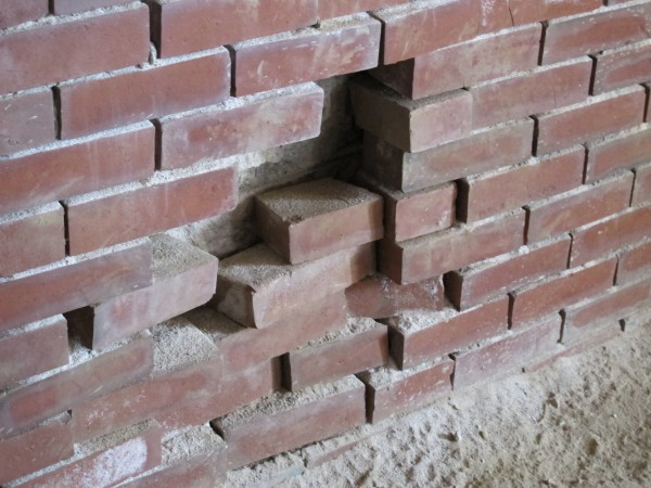 Weakened mortar can cause bricks to loosen and fall, said Friends of Fort Knox Director Leon Seymour. But it's not only weather that damages the fort: Seymour said souvenir-seeking visitors sometimes snatch bricks from the walls.