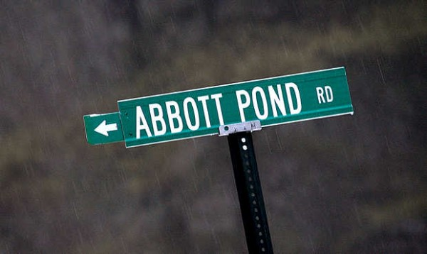 A street sign erected by the town of Sumner may have confused users of Abbott Pond Road about its status.