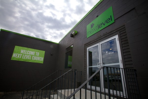 The Next Level Church in Portland sports a green color scheme inside and out.