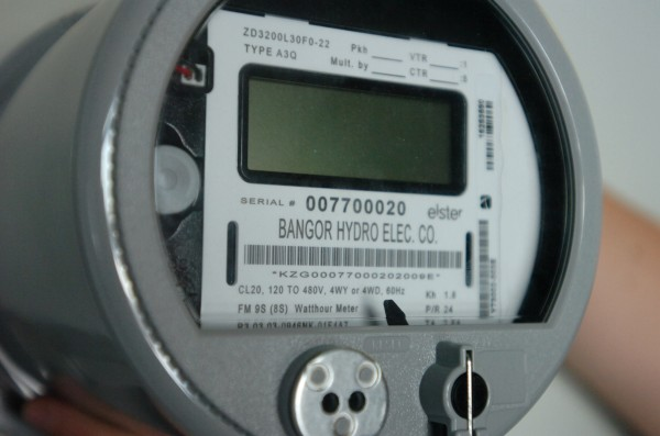 The latest model of one of Bangor Hyrdro-Electric Co.'s smart meters on Jan. 22, 2010, in Bangor.