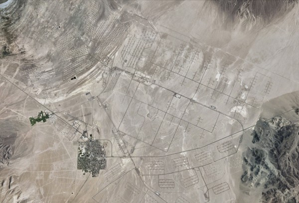 Hawthorne Army Depot in western Nevada is seen in this August 30, 2010, satellite image courtesy of Google Earth.