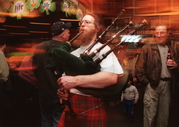 Peter McKim Beckford of Clifton plays at Geaghan's Restaurant and Pub in Bangor on St. Patrick's Day in 2000.