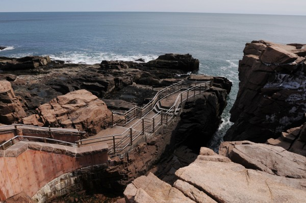 Visitors to Acadia National Park will still be able to visit Thunder Hole, pictured here on Friday, but they will have to wait a month later then normal to be able to drive up Cadillac Mountain or cruise the Park Loop Road due to cuts in funding brought on by the sequestration.
