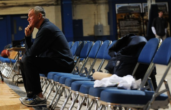 &quotI'm worn out from the shoot-around,&quot Jim Frost of Brewer said as he sat watching others shoot hoops at the Bangor Auditorium on Saturday for a fundraiser for the Maine Basketball Hall of Fame. Frost was a player for Woodland during the late '60s. Past high school basketball stars and their families showed up to relive past glory days.