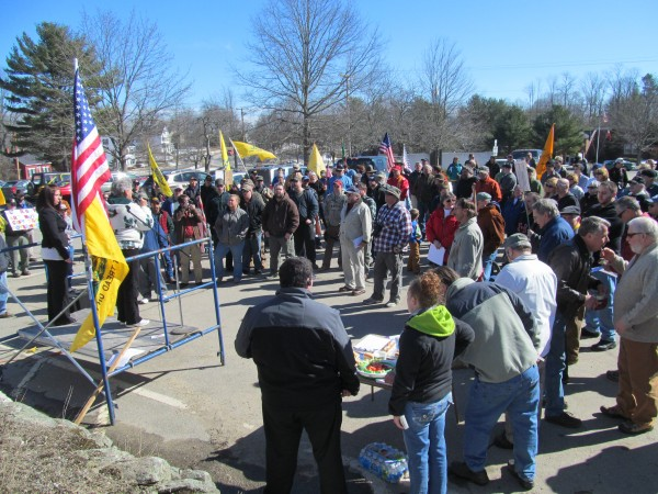 About 150 people turned out for a gun rights rally on Saturday, March 9, 2013, in Wiscasset. The rally was organized by the Maine Gun Rights Coalition.