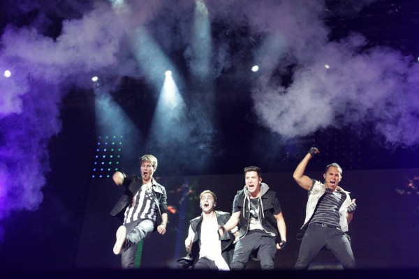 Big Time Rush takes the stage in August 2012 on the Bangor Waterfront to a crowd of screaming fans, ranging in ages from preschool to late 20s.