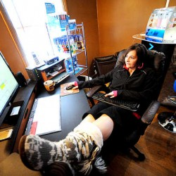 """The bonus of working from home is you can do it whenever, as long as you get it done,"" said Tanya Lippke, who works on market research analysis from her Lewiston home. She also runs a portable oxygen bar company from her house."