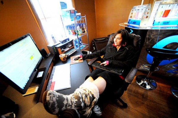 &quotThe bonus of working from home is you can do it whenever, as long as you get it done,&quot said Tanya Lippke, who works on market research analysis from her Lewiston home. She also runs a portable oxygen bar company from her house.