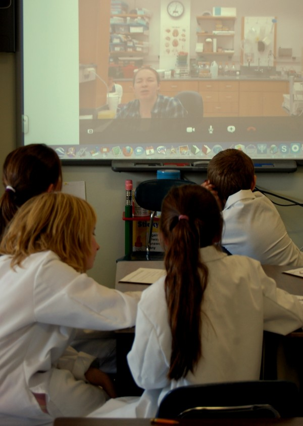 Twenty-two Surry Elementary School students from grades four and five are participating in a new distance learning initiative in science, technology, engineering and math that, once a week, links these and other students in Maine with students and research scientists at Vanderbilt University in Tennessee, using interactive video conferencing.