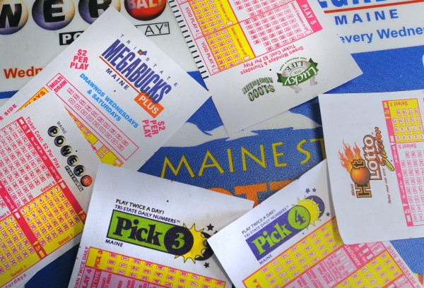 Maine State Lottery tickets.