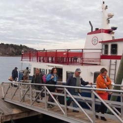 Passengers disembark from the Chebeague Island Ferry on Tuesday, Jan. 15, 2013, on Yarmouth's Cousins Island. Draft legislation would allow the Chebeague Transportation Co. to create a nonprofit public transit district.