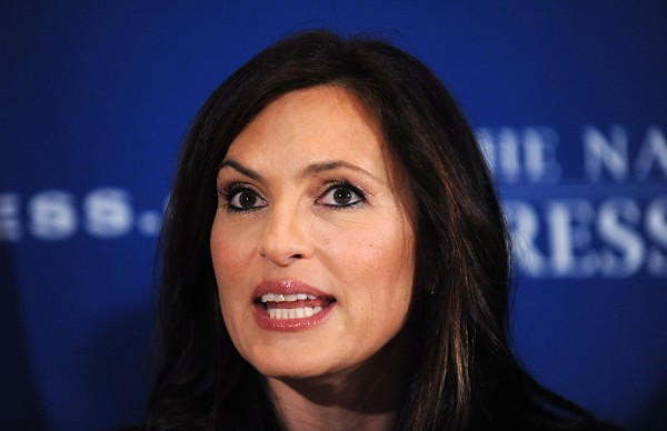 Mariska Hargitay, actress and founder of Joyful Heart Foundation, speaks at the National Press Club, on Wednesday, March 13, 2013, in Washington, D.C.