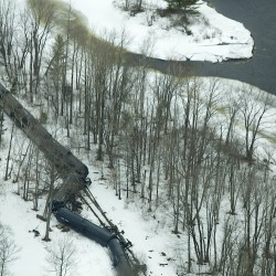 Crews remove chemicals from two derailed train tankers in Bucksport