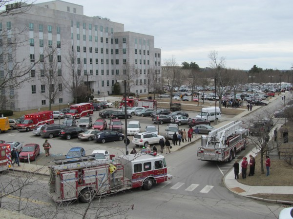 Employees who work in the Cross Office Building at the state capitol complex in Augusta were evacuated from the building on the morning of Thursday, March 28, 2013. They returned to the building after firefighters gave the go-ahead about a half hour later. Read the story here.