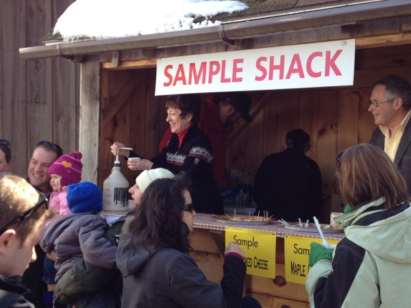 U.S. Sen. Susan Collins, R-Maine, serves up fresh maple syrup at Merrifield Farms in Gorham on Maine Maple Sunday, March 24, 2013.