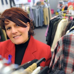 Melissa Lawrence is the owner of Faithbuilders Cornerstore, a new thrift store in Brewer. Lawrence donates clothing and other items to victims of domestic violence.