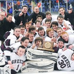 Hart, Howland lead Greely past Camden Hills in West B final
