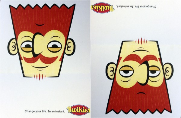 A proposed advertisement given to retailers by the Maine State Lottery, which planned to brand its instant scratch tickets as Kwikies. The state lottery has since decided against the Kwikies name.