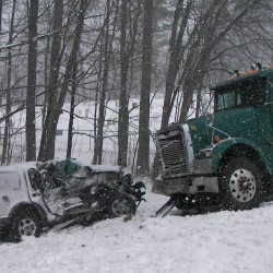 Thorndike woman remains at Portland hospital after tractor-trailer crash