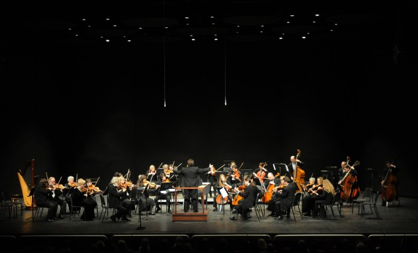 "The Bangor Symphony Orchestra, under conductor Lucas Richman, finishes ""&quotFantasia on a Theme by Thomas Tallis&quot by Ralph Vaughan Williams"" on Sunday at the Collins Center in Orono."