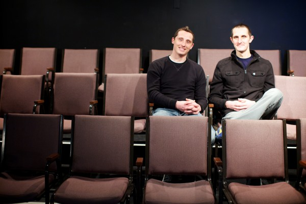Brothers Jason (left) and Matt Tardy have never had a day job. Since middle school, they've made a living performing feats of juggling, physical comedy and general clowning around.