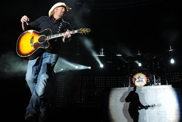 Toby Keith performs at the Bangor Waterfront during a stop on his Locked and Loaded tour on Saturday, July 9, 2011.