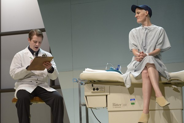 Zachary A. Robbins and Sarah Dacey Charles perform in Penobscot Theatre Company's production of &quotWit,&quot which runs through March 31.