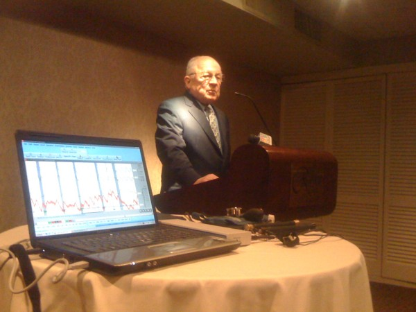 Well-known defense attorney F. Lee Bailey advocates for the expanded use of polygraph testing in the state of Maine during a Portland news conference Wednesday morning. Bailey is helping organize what he called the &quotthe most extensive seminar ever held in the United States&quot on polygraph techniques next month in Saco.