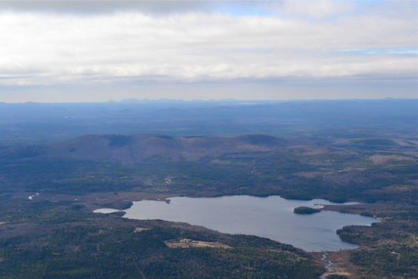 Aerial photo of Passadumkeag Mountain, April 6, 2012.