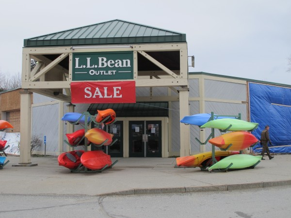 The L.L.Bean Outlet store at 150 High Street, Ellsworth.
