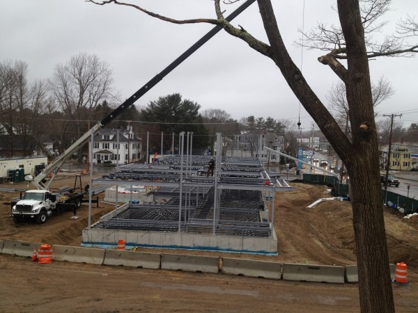 Construction of the new Brunswick police station continued on Monday, March 4, 2013.
