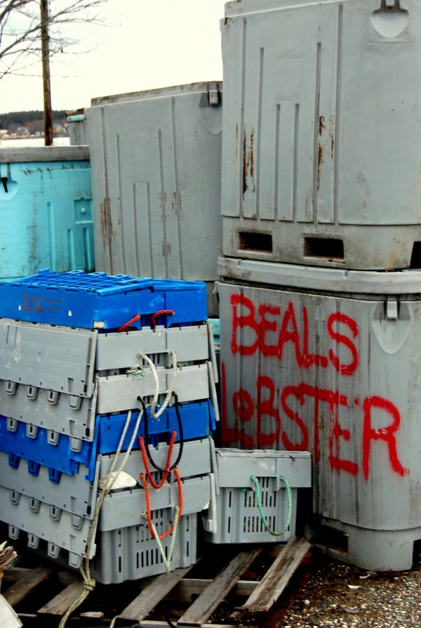 The weekend theft of as many as 100 lobster crates, like those pictured at left, could cost Beals Lobster Inc. of Jonesport nearly $5,000 or more.