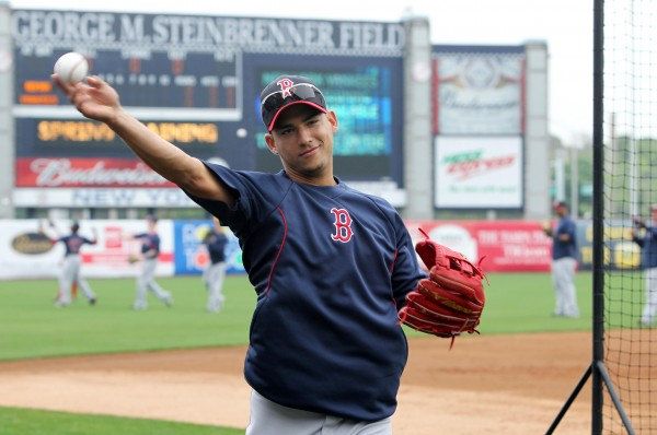 Boston Red Sox shortstop Jose Iglesias prior to the March 20, 2013, game against the New York Yankees at George M. Steinbrenner Field.