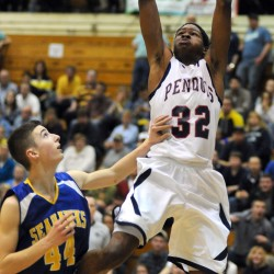 High school football stint short-lived for basketball star Bess at Hampden Academy