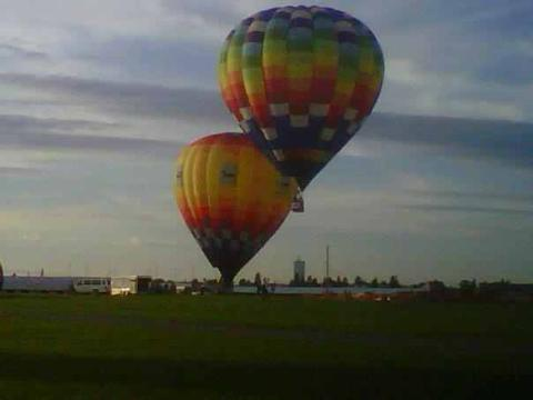 Two hot air balloons take flight in Presque Isle. The Piscataquis Heritage Hot Air Balloon Festival will take place in Dover-Foxcroft on May 31 to June 2.