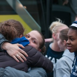 UMaine women's basketball team happy, relieved to return home after 'miraculous' outcome in bus crash