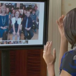 Brewer third-graders 'chat' with Barbara Bush