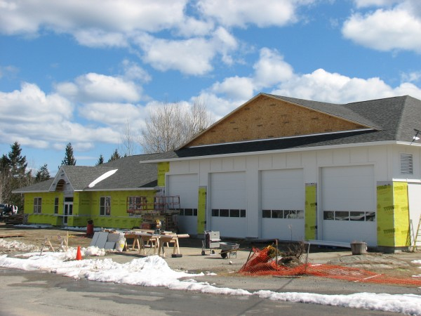 The new $1.6 million town office and public safety building in Winter Harbor is due to be completed by the end of May.