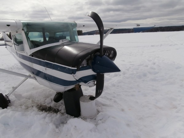 A single-engine Cessna plane crashed while attempting to land on Long Lake on Saturday morning.