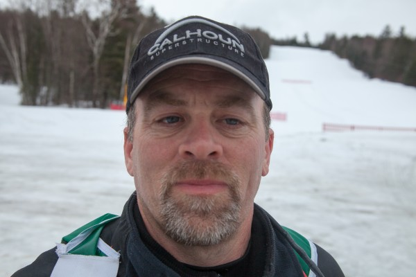 Bob Shanahan of Mechanicsburg, Ohio, after crossing the finish line at the Can-Am Crown 250-mile dog sled race on Monday, March 3, 2013.