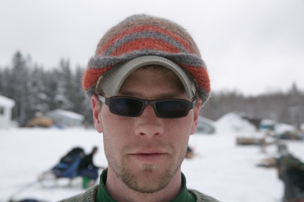 Ryan Anderson of Ray, Minn., during feeding time at the Maibec checkpoint on Sunday, March 3, 2013.
