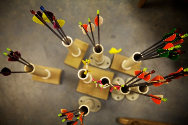 Arrows stand at the ready at Nicely Equipped Archery in Gorham.