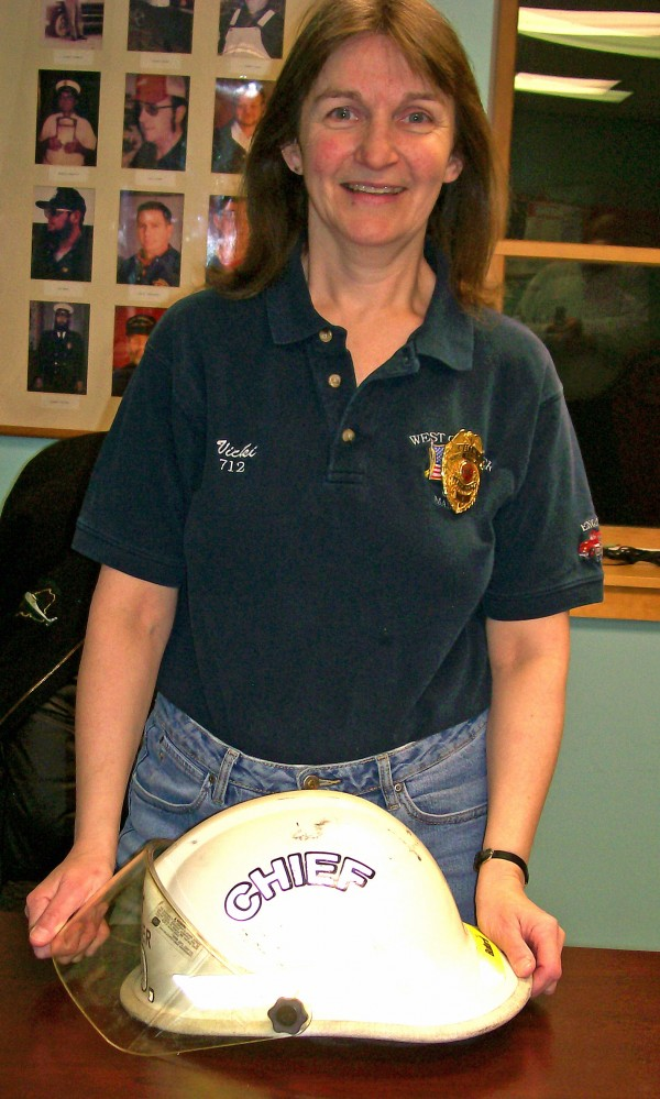 West Gardiner Fire Chief Vicki Dill