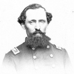 For raising Co. D of the 8th Maine Infantry Regiment in 1861, Henry Boyntonwas named its captain. An ambitious officer, he often criticized his superiors in the letters he wrote pushing his own promotion. Disliked by many comrades, Boynton was a colonel and the 8th Maine's commanding officer when he posed for this photograph.