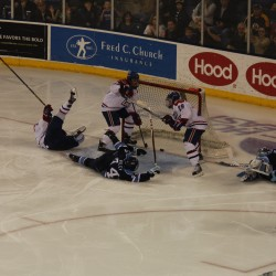 UMaine hockey's season ends in overtime against Lowell; Diamond ejected in second period