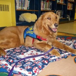 Morgan loves being read to and meeting new people!