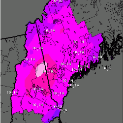 Parts of Maine could see up to 16 inches through Friday
