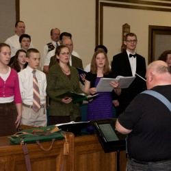 """The Garden"" choir rehearsing under the direction of Jim Perkins"