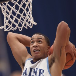 Former UMaine basketball star Justin Edwards visits Kansas State