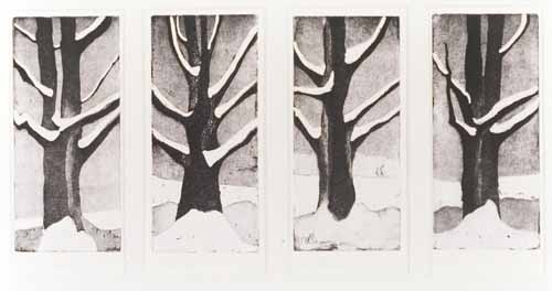 Winter Trees: Four Views